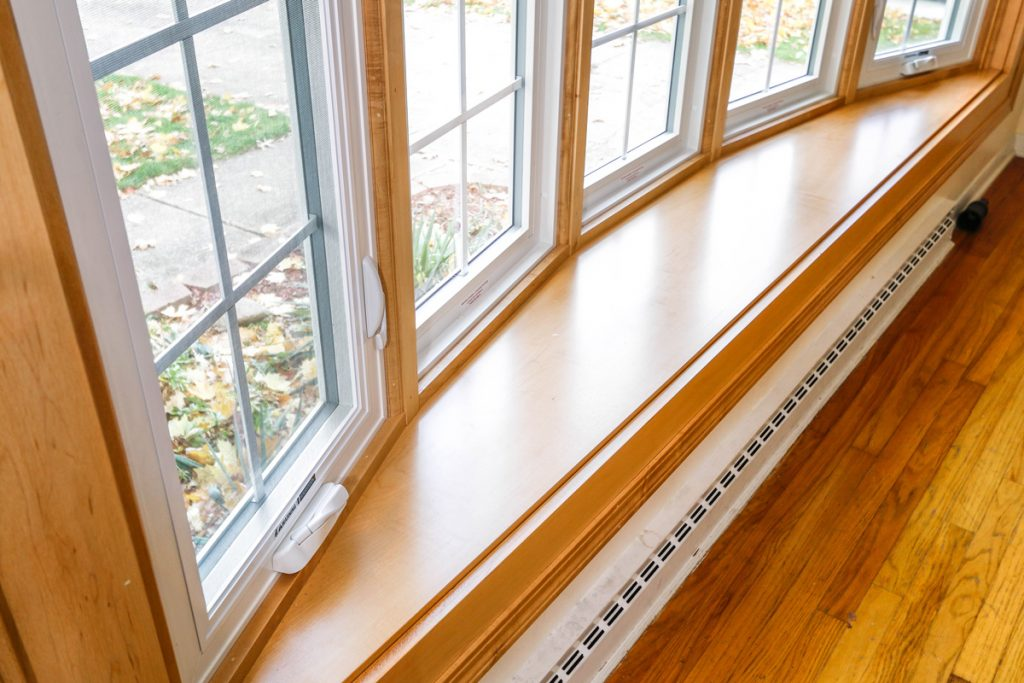Metal Frame Window with White Paint