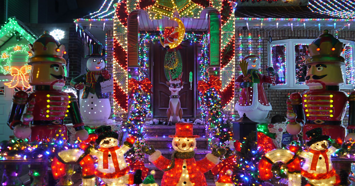 ... Top Ideas For DIY Outdoor Holiday Decorating In Phoenix. Crazy Christmas  Light Design