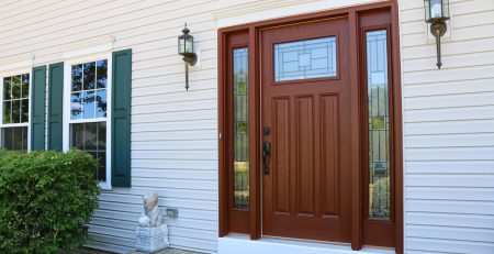 Wood Entry Door with Glass