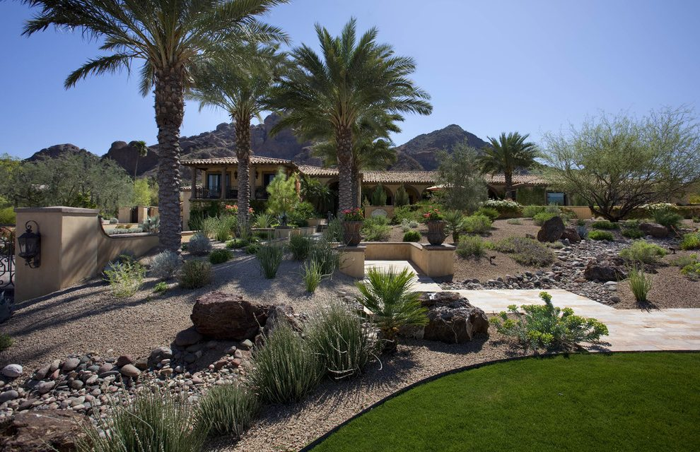 southwest-landscape-landscape-southwestern-with-walkway-traditional-outdoor-lounge-sets