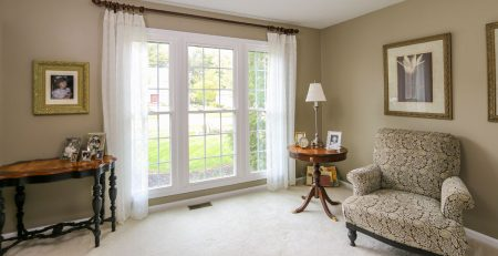 White Window with White Curtain