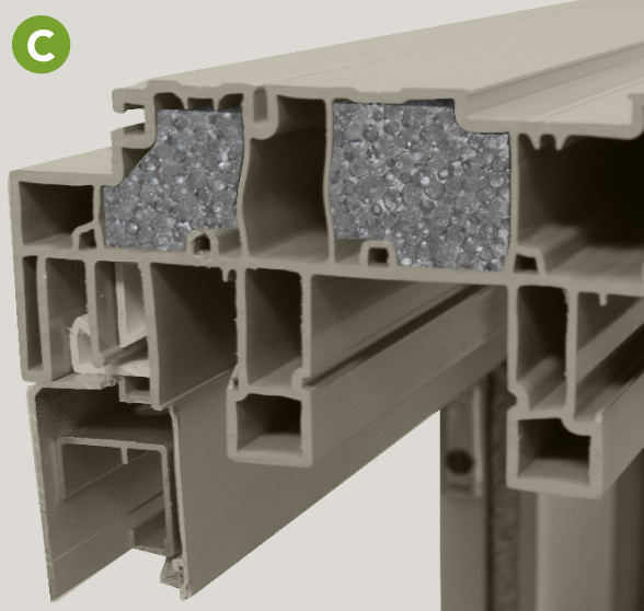 Strong, multi-chamber profiles with Neopor® insulatio
